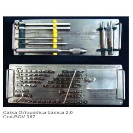 Caixa Ortopédica básica Placas e parafusos tamanho 2,0mm