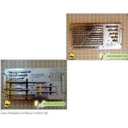 Caixa Ortopédica Basica Placas e parafusos tamanho 2,7mm