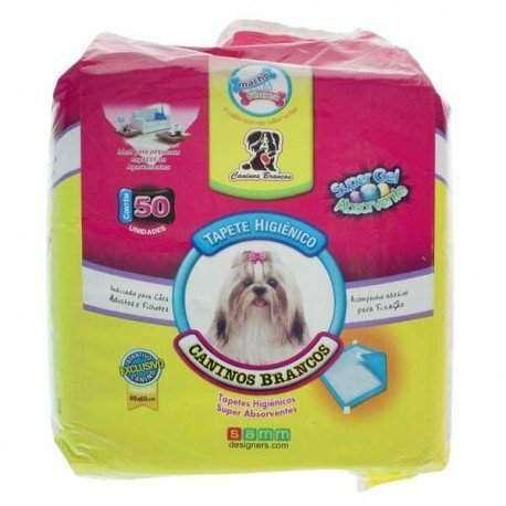 Tapete Higiênico Caninos Branco C/ 50 Unidades