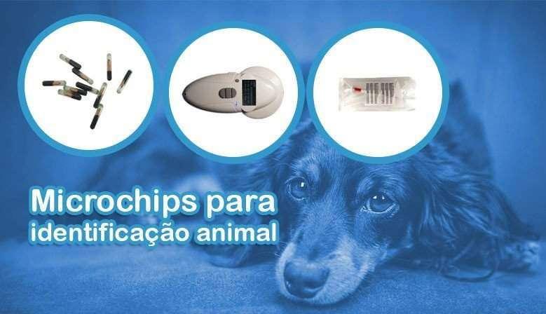 Microchip para identificação animal